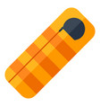 sleeping bag image or icon for vector image