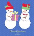 Snowmen Christmas card vector image vector image