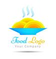 Spaghetti as nest icon idea for italian restaurant vector image