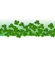 st patricks day horizontal seamless background vector image vector image