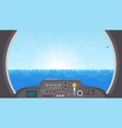 submarine inside view vector image vector image