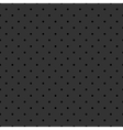 Tile pattern black polka dots on grey background vector image vector image