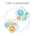 time is working vector image vector image