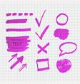 transparent highlighter marks vector image vector image