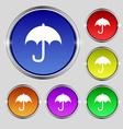 Umbrella icon sign Round symbol on bright vector image vector image