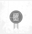 vintage banner with veterans day sale text vector image vector image