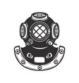 vintage style diver helmet isolated on white vector image vector image