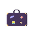 vintage suitcase with stickers vector image vector image