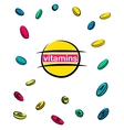 Vitamin pills vector image vector image