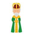Wise man icon Merry Christmas design vector image vector image