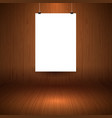 wooden display background with blank hanging vector image vector image