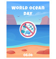 world ocean day card