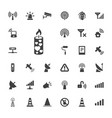 33 signal icons vector image vector image