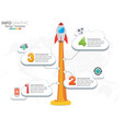 4 steps infographic design rocket or vector image vector image