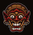 a a traditional bali mask vector image vector image