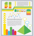 A colourful graphical representation vector image vector image