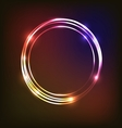 Abstract neon background with circles vector image vector image