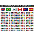 all national flags of the world cartoon style vector image