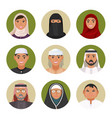 arabic men and women of all ages portraits vector image