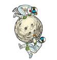 astronauts on moon space exploration solat