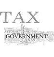 Attorney minnesota tax text word cloud concept