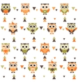 Background with funny owls and owlets vector image vector image