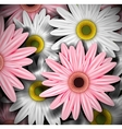 Background with gerberas vector image vector image