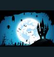backgroundfestival halloweenfull moon on dark vector image vector image
