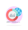 big chart data world infographic flat color icon vector image