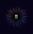 big data concept futuristic design data vector image vector image