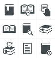 Book Icons Set Design vector image vector image