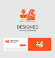 business logo template for salary shopping basket vector image vector image