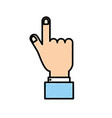 businessman hand with finger and nails vector image vector image