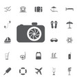 camera icon in trendy flat style isolated on grey vector image