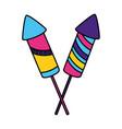 carnival rockets fireworks vector image