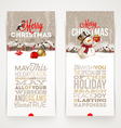 Christmas banners with type design vector image vector image