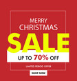 christmas sale banner with discount vector image vector image