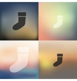 christmas sock icon on blurred background vector image