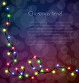 Christmas template for congratulation with garland vector image vector image