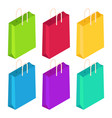 collection of colorful isometric bags vector image