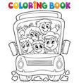 coloring book school bus theme 1 vector image