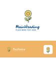 creative flower logo design flat color logo place vector image