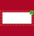 cute christmas or new year red rectangle banner vector image vector image