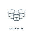 data center outline icon thin line style from big vector image vector image