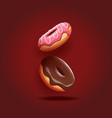 Delicious donuts vector image