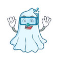 diving cute ghost character cartoon vector image vector image