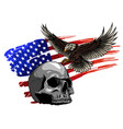 eagle and skull design art vector image vector image