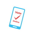 electronic voting remote voting through the vector image vector image