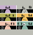 family issues infographic symbol vector image vector image