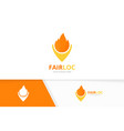 fire and map pointer logo combination vector image vector image